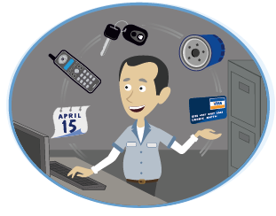 Image result for service advisor cartoon